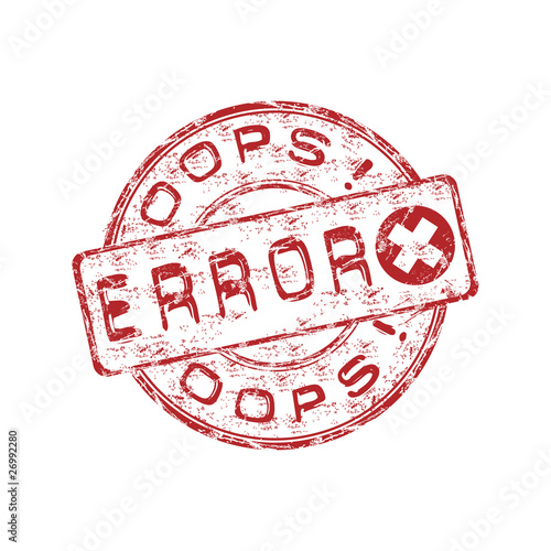 Error grunge rubber stamp