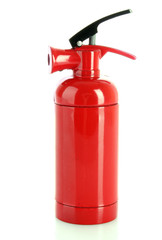 fire extinguisher isolated on white