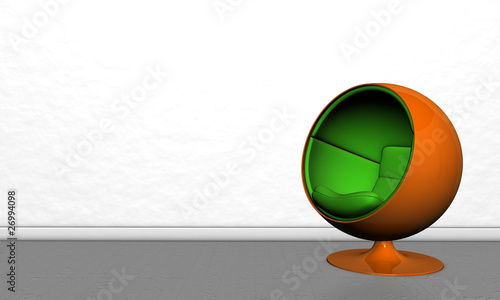 kugelsessel von ronny marx lizenzfreies foto 26994098 auf. Black Bedroom Furniture Sets. Home Design Ideas