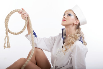 Sailor Girl with Rope