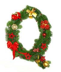 "Christmas alphabet letter ""Q"""
