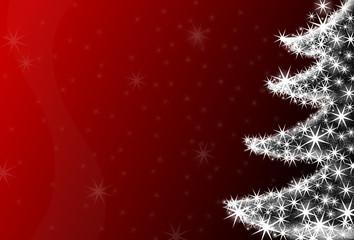 Roter weihnachtlicher Htgr mit Christbaum