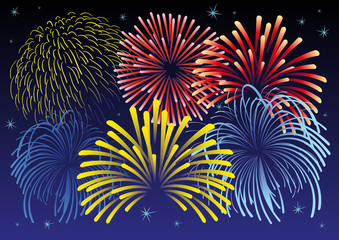 Firework vector illustration.
