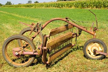 Vecchio strumento agricolo