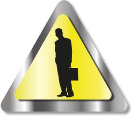 Danger business man sign