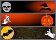 halloween banners. vector illustration.