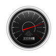 New Year Classic Speedometer on white