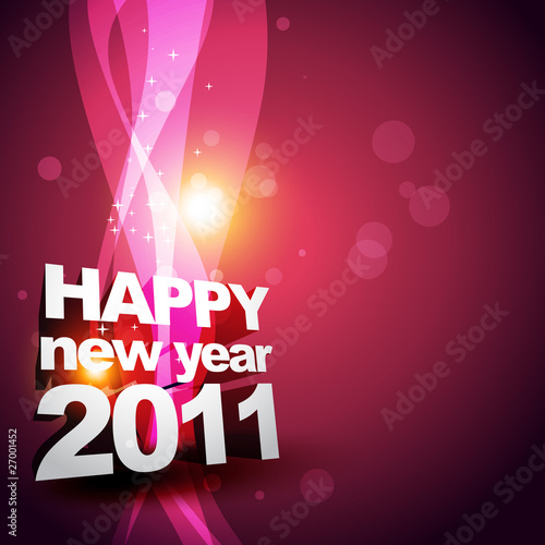 beautiful new year design