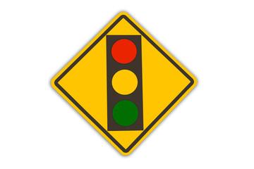 red light warning sign