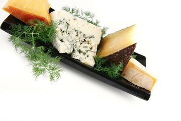 delicatessen cheese on plate