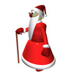 Santa Claus or Grandfather Frost, 3d, it is isolated.