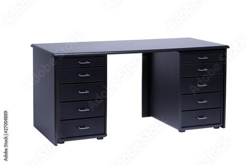 schwarzer schreibtisch von by studio lizenzfreies foto. Black Bedroom Furniture Sets. Home Design Ideas