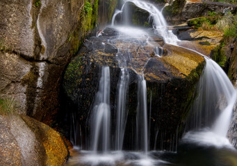 Beautiful waterfall at the national park, Portugal