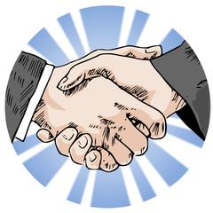shake hands circle