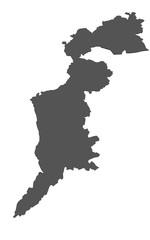 Karte von Burgenland - isoliert