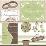 Wedding elements, vector
