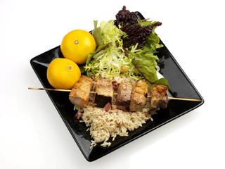 Spicy Swordfish Kebabs
