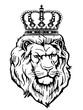 Wappentier mit Krone