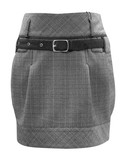 ladies grey skirt, clipping path