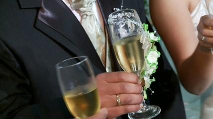 Sektempfang, Hochzeit