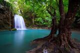 Fototapety Erawan Waterfall in Kanchanaburi, Thailand