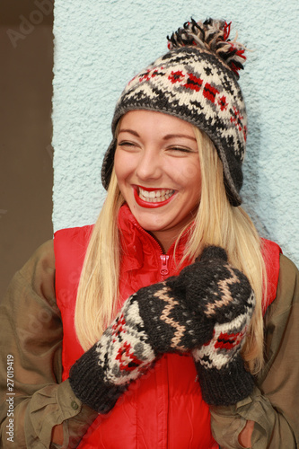 Happy Young Woman. Model Released
