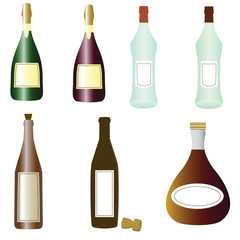 Coolection of vector alcohol drinks