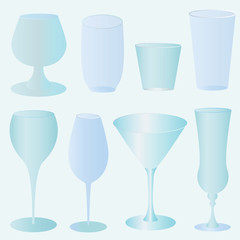 Collection of vector glasses