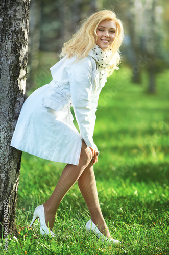 Young woman in summer park