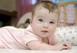 Closeup portrait of adorable baby girl