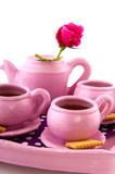 Pink handcraft crockery poster