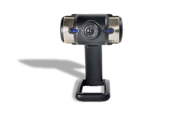 Webcam with speakers and microphone