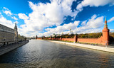 Moskva river and Kremlin view in Moscow, Russia
