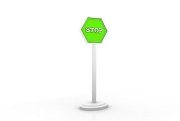 3D STOP sign