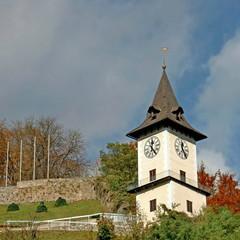 Schlossberg von Bruck a.d.Mur / Steiermark / Österreich