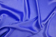 Drape background of blue silk