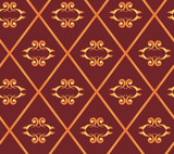 vector seamless brown texture with rhombuses poster