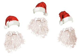 cappelli e barbe di Babbo Natale