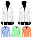 Vector. Hooded sweatshirt with zipper design template.