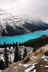 The amazing Lake Peyto in the Canadian Rockies.