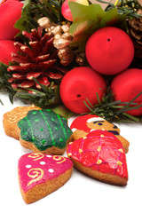 Christmas wreath. Cookies