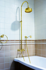 beautiful bronze faucet