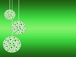Leinwandbild Motiv palline dell'albero di natale in tema verde