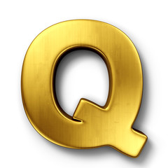 The letter Q in gold
