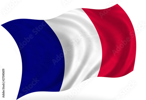 french flag, isolated