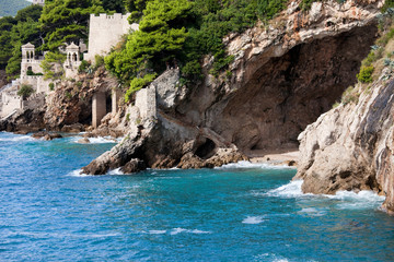 Cave on the Adriatic Sea Coastline