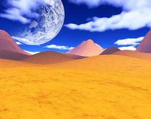 colorful space landscape