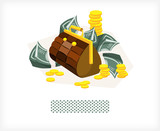 Bag with money and coins A