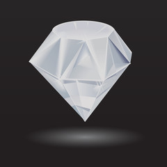 isolated diamond on black
