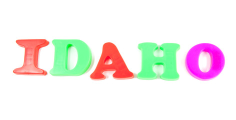 idaho written in fridge magnets